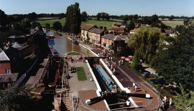 Stoke Bruerne - A great place to Moor on a short break from Gayton. You will find the Canal Museum, pubs and restaurants.