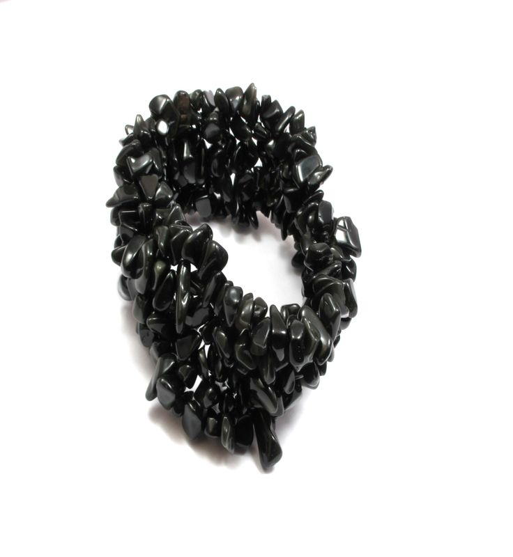 Black onyx gemstone bracelet.