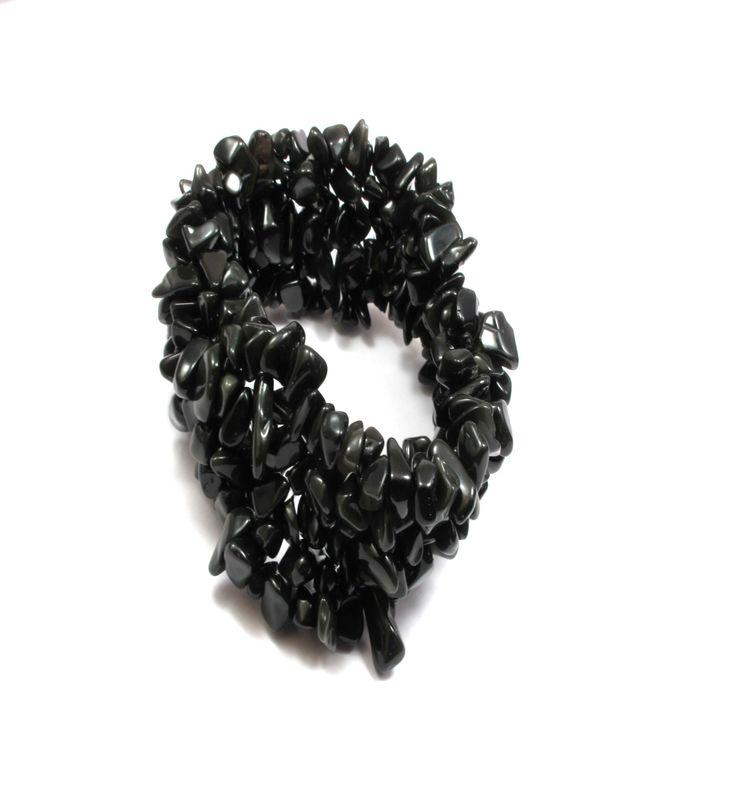 Black onyx gemstone bracelet.