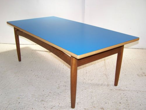 vintage retro mid century teak coffee table formica gplan nathan