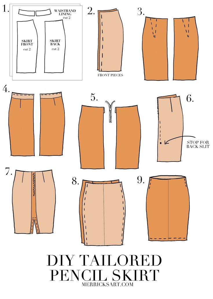 Diy Suede Midi Pencil Skirt Crafts Amp Home Ideas Skirt