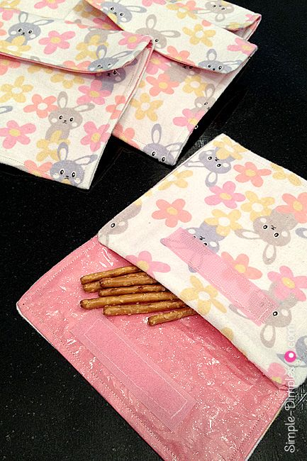 Dimplicity - Crafty Blog: Reusable Fabric Snack Bags
