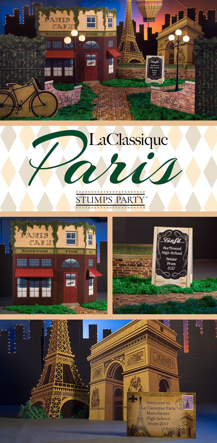 Add a classical touch to your Paris party with our La Classique Paris theme kit. Complement your event with personalized Paris favors, invitations, and more! Shop all of our Paris party supplies to make your event complete!