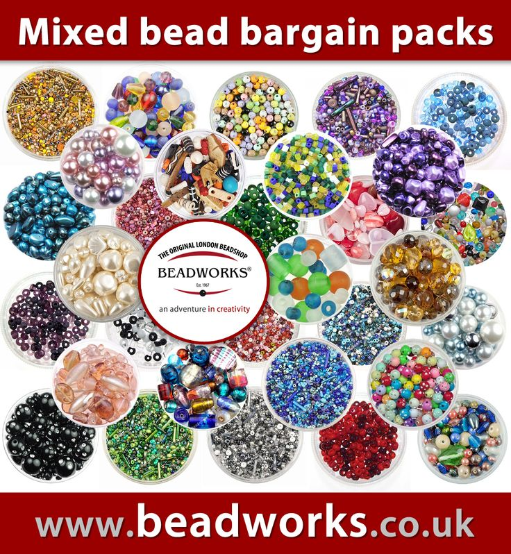 And many more at our online store: www.beadworks.co.uk/Catalogue/Mixed-Bargain-Bead-Packs