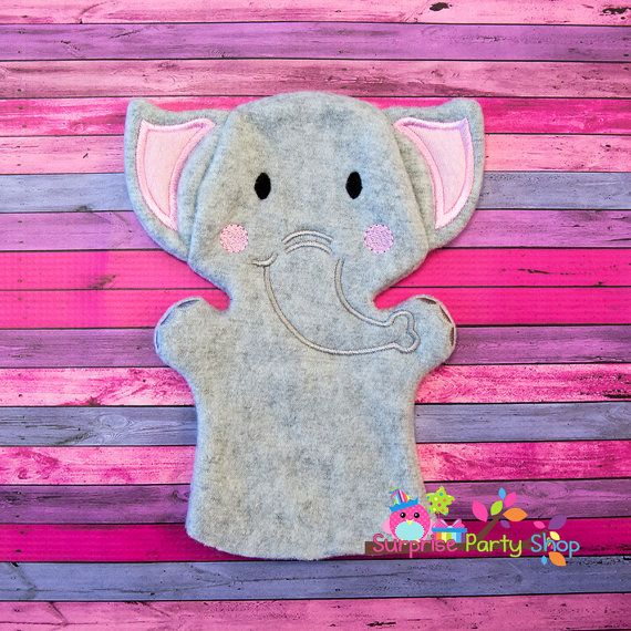 Elephant Hand Puppet Imaginative Play Baby by SurprisePartyShop