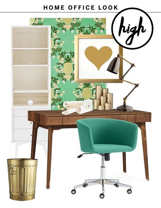 High Low One Fresh Home Office Look Two Budgets Apartment OfficeApartment LivingApartment TherapyOffice