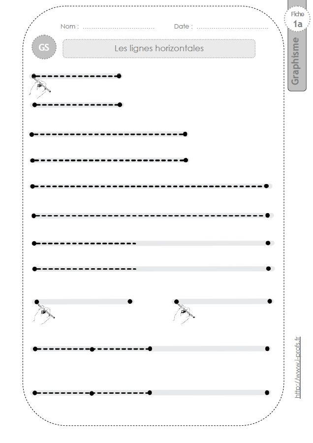 GS:GRAPHISME ET ECRITURE CURSIVE en Grande section de Maternelle