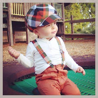 Handmade Vintage Newboy Hat & Suspenders Set.  Custom orders available now!  $50 set #handmadeaustralia #vintage #newsboy #littlemanscloset