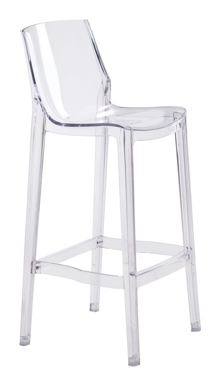 Set of Two Clear Acrylic Phantom Bar Stool - ON BACKORDER UNTIL MID-AUGUST 2016