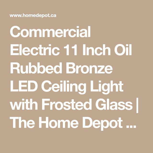Commercial Electric 11 Inch Oil Rubbed Bronze LED Ceiling Light With Frosted Glass