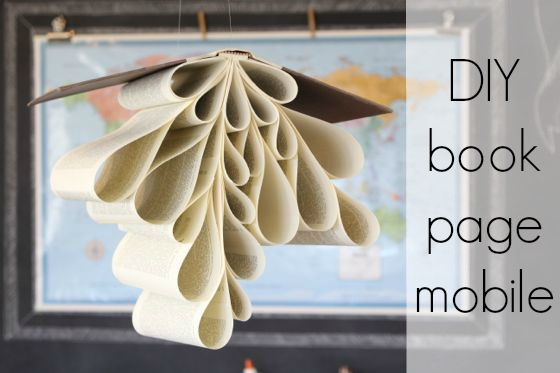 DIY book page mobile - The Pleated Poppy