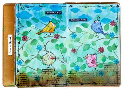 Papierowy Skrawek: Art journal z Crazy Birds