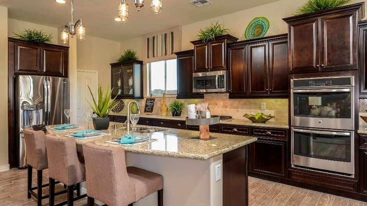 the Powell at Northlands by Taylor Morrison kitchen with island