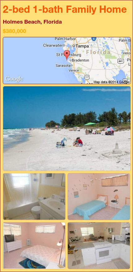 2-bed 1-bath Family Home in Holmes Beach, Florida ►$380,000 #PropertyForSale #RealEstate #Florida http://florida-magic.com/properties/84216-family-home-for-sale-in-holmes-beach-florida-with-2-bedroom-1-bathroom
