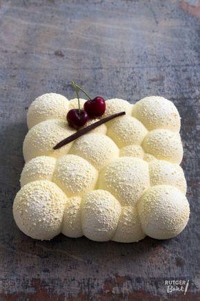 Desserttaart met kersen en twee soorten chocolade- recept