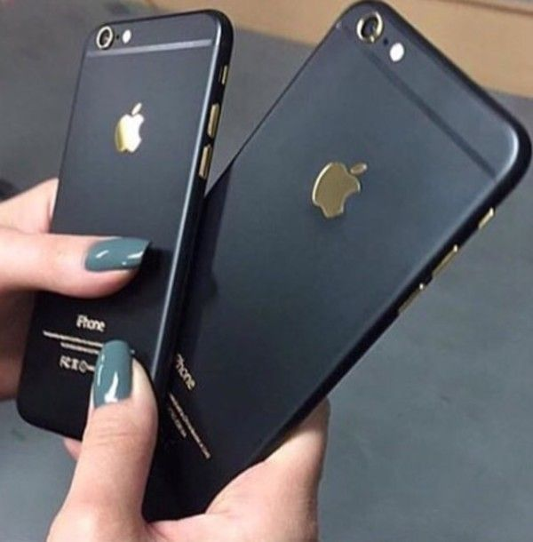 phone cover black matte black matte iphone case gold iphone black and gold stylish cute iphone 6 case iphone cover iphone 6 plus accessories
