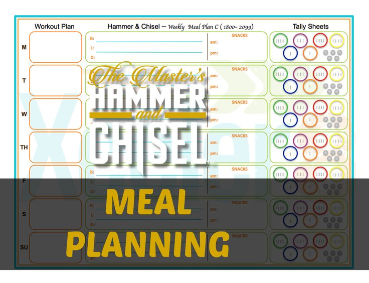 hammer and chisel meal plan pdf