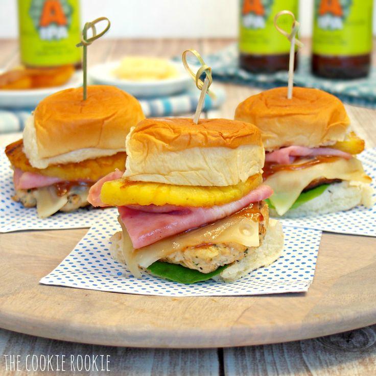 Hawaiian Chicken Burger Sliders. AMAZING!! Healthy And