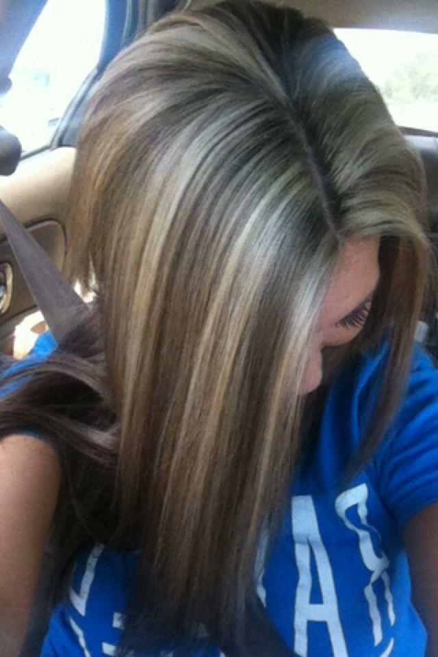 frosted hair color dark