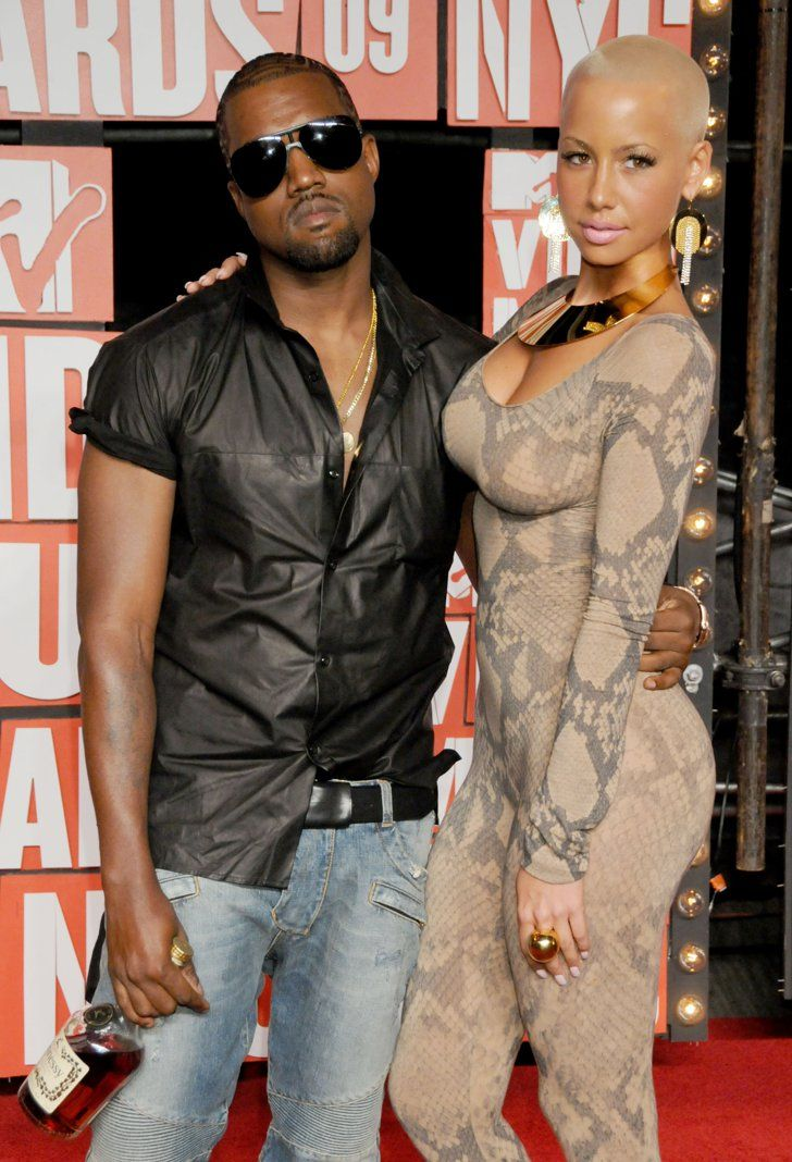Pin for Later: A Sweet, Somewhat Hilarious History of Celebrity Couples at the MTV VMAs Kanye West and Amber Rose, 2009