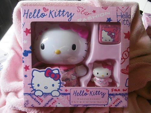 Coffret pour le bain 4 pièces Hello Kitty