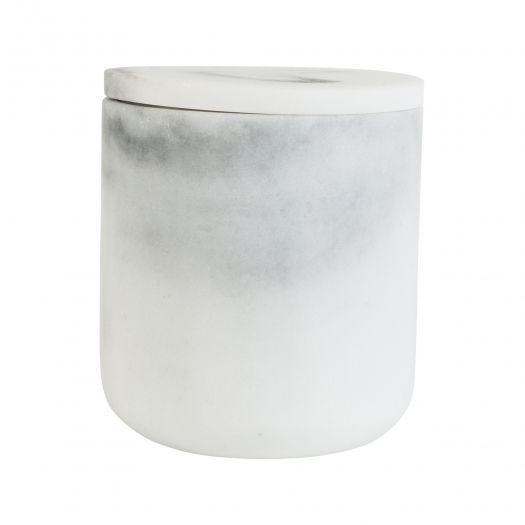 Krukke m/lokk Marmor