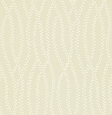Ester (211982) - Sanderson Wallpapers - An elegant vertical trailing stem dotted with tiny leaves in a linen/ivory colouring. A perfect subtle effect. There are more colours available. Please request a sample for a true colour match. Paste-the-wall product.