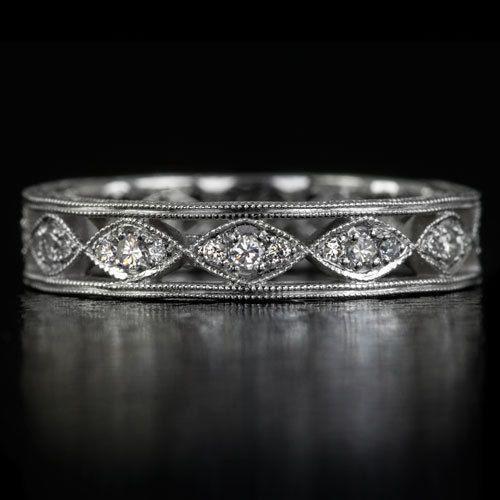 Venda de boda de diamante de antiguo Vintage por IvyandRoseVintage
