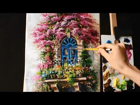 Full Length Acrylic Painting Lesson - Mountain Meadow River Landscape - YouTube