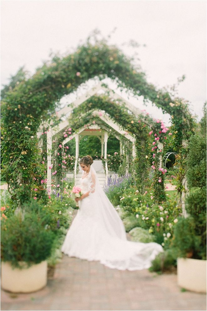 Coral and Ivory Garden Party Wedding at the Antique Rose