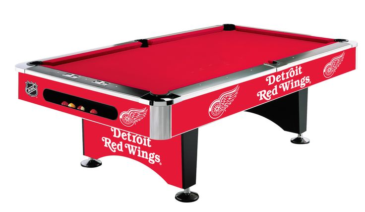 Detroit Redwings 8ft Pool Table