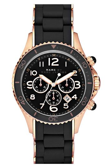 MARC BY MARC JACOBS 'Rock' Chronograph Silicone Bracelet Watch | Nordstrom
