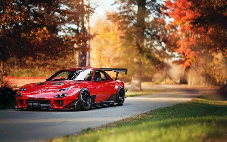 Slammed Rocket bunny Mazda rx7 | We Heart It