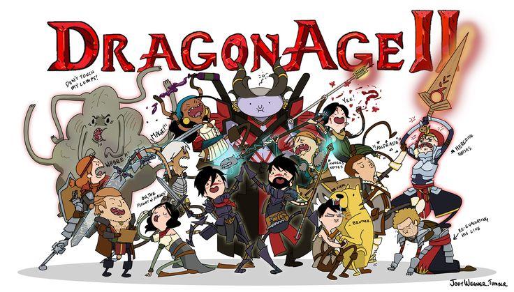 Dragon Age 2 in Adventure Time Style!  Dragon Age. Dragon Age 2. Dragon Age Fan Art. Adventure Time. Hawke. Fenris. Anders. Isabela. Merrill. Mabari. Carver. Bethany. Varric. Aveline. Sebastian Vael. Cullen. Meredith. Orsino. Arishok.