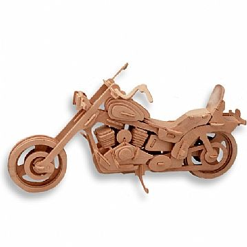3-D Wooden Puzzle - Motorcycle Model 1 -Affordable Gift for your Little One! Item #DCHI-WPZ-P019