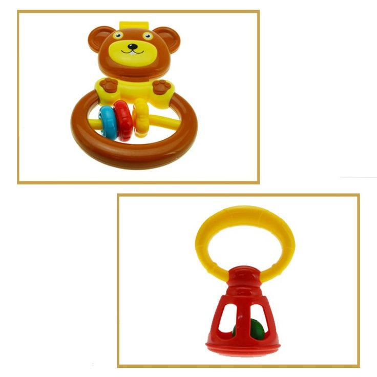 Animal elephant giraffe bear giraffe Fun 6 Piece Baby Rattle bell ring and Teether Toy Play Set - china Baby Activity Centres manufacturer - Shantou Bana Import & Export Co., Ltd