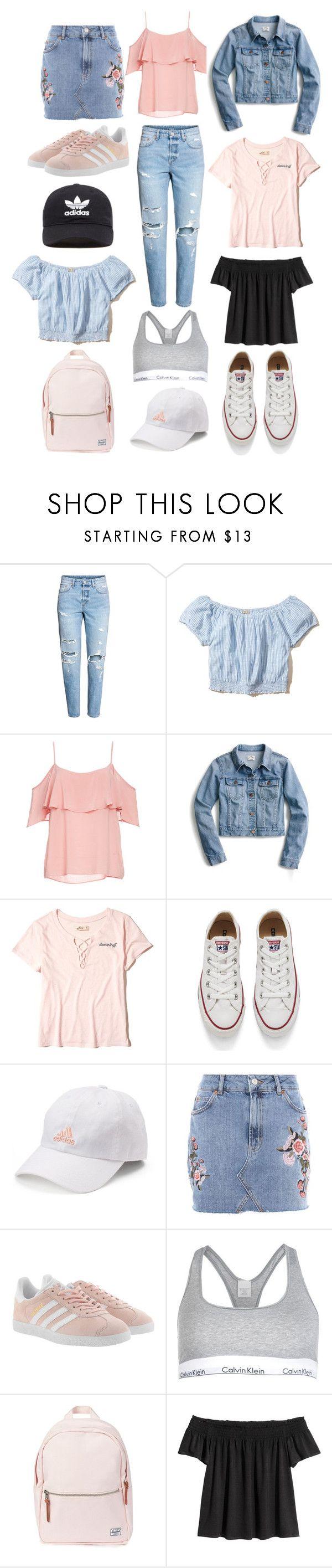 """Spring Trends For Teens"" by taiyamaddisonblog on Polyvore featuring Hollister Co., BB Dakota, J.Crew, Converse, adidas, Topshop, adidas Originals, Calvin Klein and Herschel"