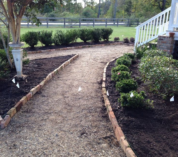 Pea gravel walkway? Almost finished!