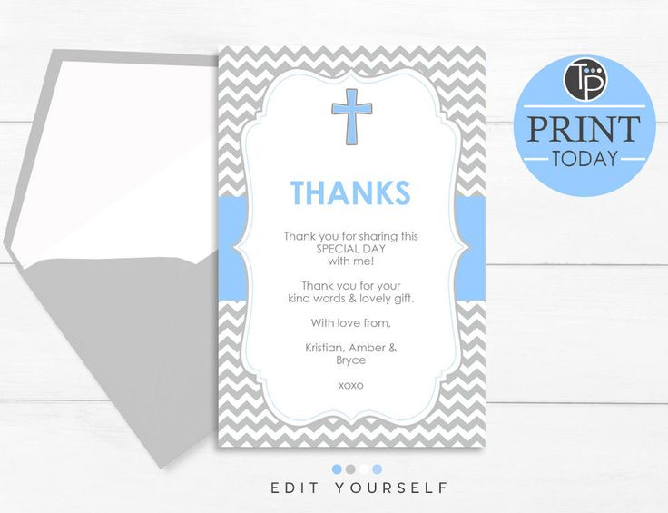 25 unique baptism thank you cards ideas on pinterest baby blue baptism thank you card instant download baptism thank you card chevron baptism stopboris Images