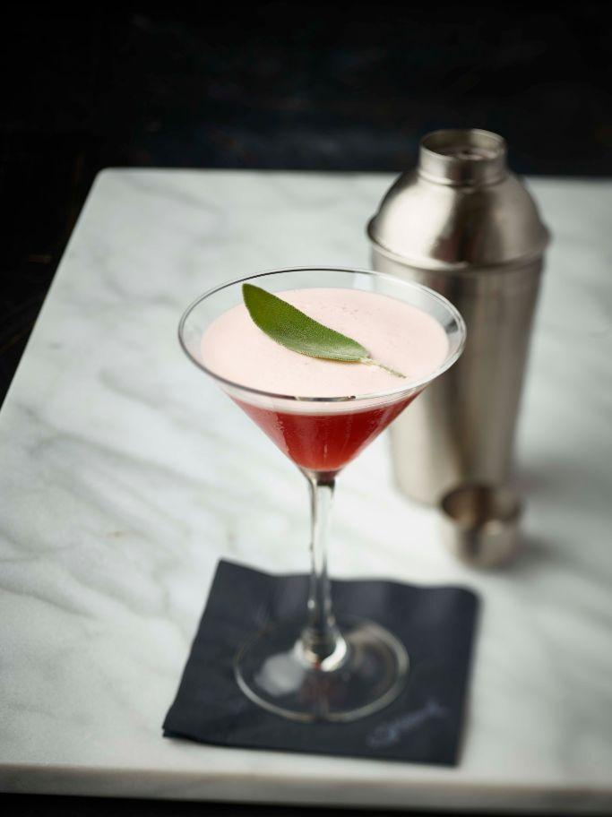 Pomegranate Sage Martini by Bonefish Grill