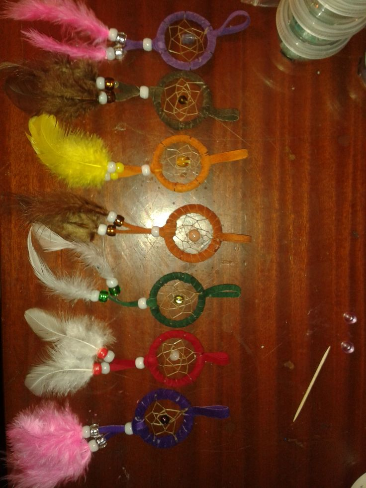 Dream Catcher Key Chains By Robin and Jonathan @ Robins Cree-Creations on facebook