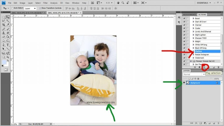 Watermark Action Tutorial by Bower Power Blog