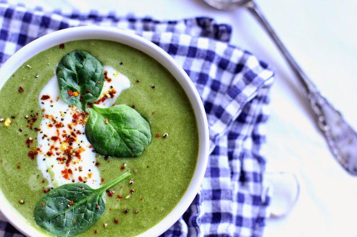 Brokolicovo-špenátová krémová polévka