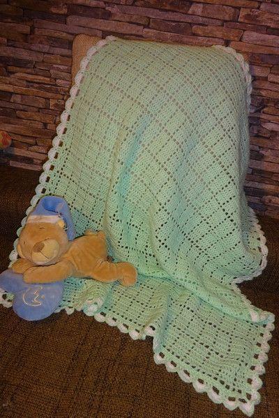 babydecken babydecke geh kelt hellgr n wolle luftig blanket ein designerst ck von hemalari. Black Bedroom Furniture Sets. Home Design Ideas