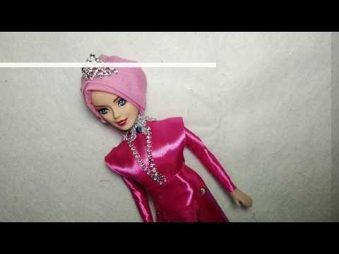 3 Tutorial Membuat Barbie Hijab Baju Barbie Hijab Barbie Candy Youtube Hijab Barbie Barbie Tutorial