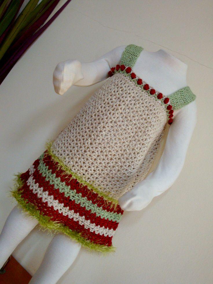 summer dress... with linen yarn..