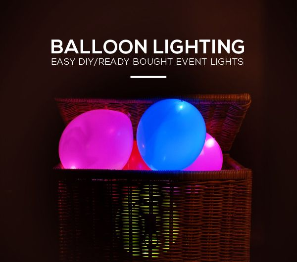 Simple event/party lights: glow sticks inside of balloons