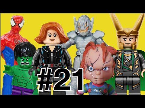 #21 Lego Imaginext Playskool Minecraft: Viúva Negra Hulk Homem Aranha  U...