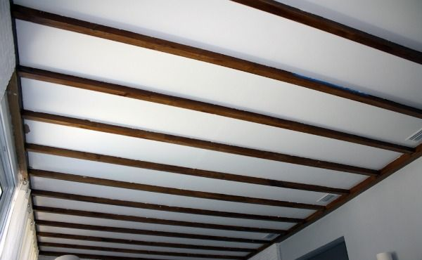 Weekend plans - more exposed beam ceiling work - Directions Not Included