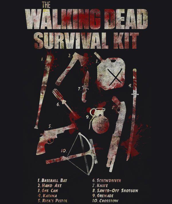 Walking dead survival kit. The zombie apocalypse is near